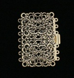 LARGE FILIGREE RECTANGLE