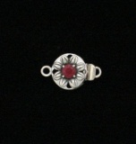 RUBY FLOWER CLASP