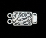 SWIRL PATTERN RECTANGLE 2-RING