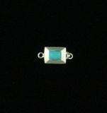 SMALL RECTANTULAR TURQUOISE