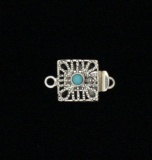 SQUARE WEBBED TURQUOISE