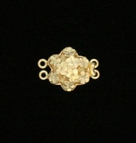 VERMEIL LARGE CUTWORK FLOWER
