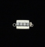 4 STONE WHITE TOPAZ RECTANGLE